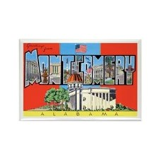 Montgomery Alabama Greetings Rectangle Magnet
