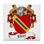 Elliot Family Crest Tile Coaster
