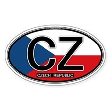 Czech Republic Euro Oval Decal