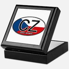 Czech Republic Euro Oval Keepsake Box
