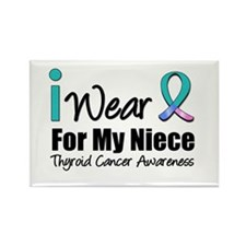 Thyroid Cancer (Niece) Rectangle Magnet