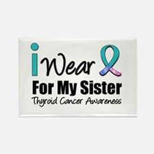 Thyroid Cancer (Sister) Rectangle Magnet