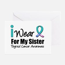 Thyroid Cancer (Sister) Greeting Cards (Pk of 10)