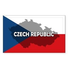 Czech Republic Flag Extra Decal