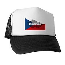 Czech Republic Flag Extra Trucker Hat