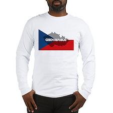 Czech Republic Flag Extra Long Sleeve T-Shirt