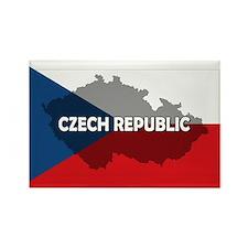 Czech Republic Flag Extra Rectangle Magnet