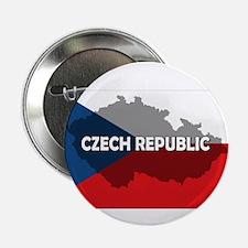 """Czech Republic Flag Extra 2.25"""" Button"""