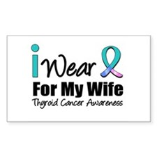 Thyroid Ribbon (Wife) Rectangle Sticker 10 pk)