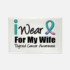 Thyroid Ribbon (Wife) Rectangle Magnet