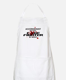 Accordionist Cage Fighter by Night BBQ Apron
