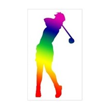 Golfer Rectangle Decal