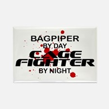 Bagpiper Cage Fighter by Night Rectangle Magnet