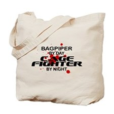 Bagpiper Cage Fighter by Night Tote Bag