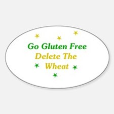 Go Gluten Free: Delete The Wheat Oval Decal