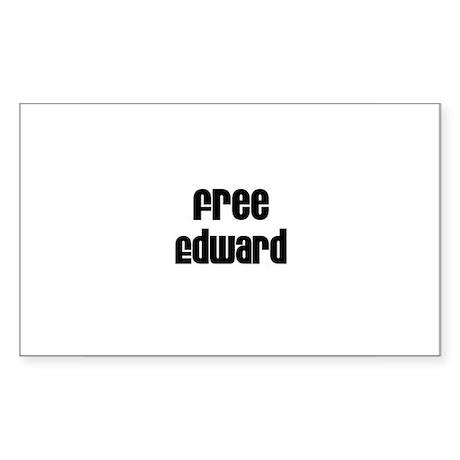 Free Edward Rectangle Sticker
