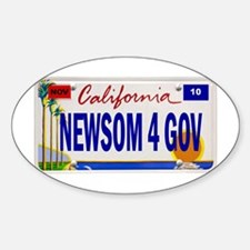 Gavin Newsom for Governor of Oval Decal