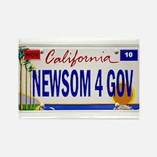 Gavin Newsom for Governor of Rectangle Magnet