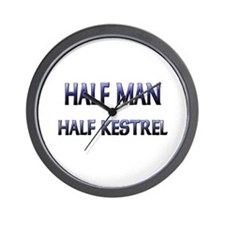 Half Man Half Kestrel Wall Clock