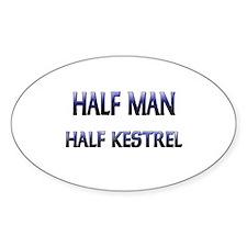Half Man Half Kestrel Oval Decal