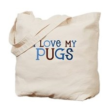 I love my Pugs Tote Bag