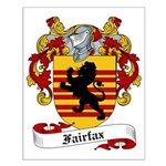 Fairfax Family Crest Small Poster