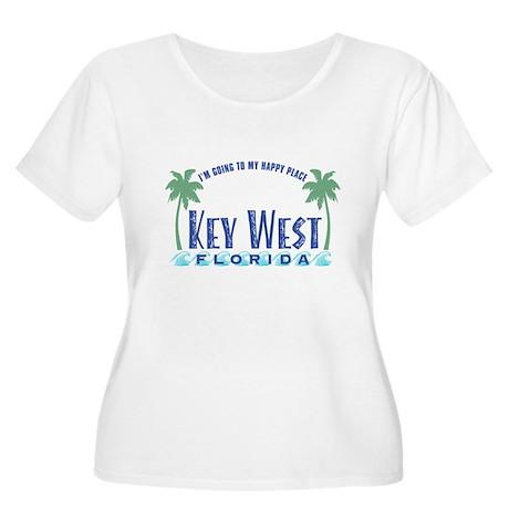 Key West Happy Place - Women's Plus Size Scoop Nec