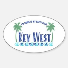Key West Happy Place - Oval Decal
