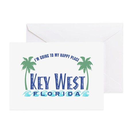 Key West Happy Place - Greeting Cards (Pk of 20)