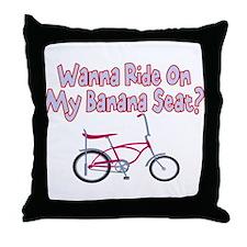 Banana Seat Throw Pillow