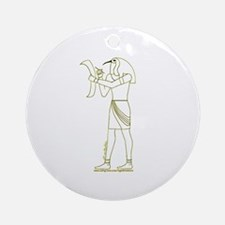 Egyptian God Thoth II Ornament (Round)