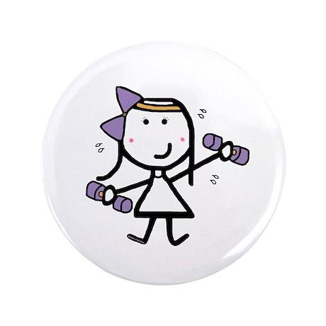 """Girl & Exercise 3.5"""" Button"""