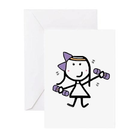 Girl & Exercise Greeting Cards (Pk of 20)