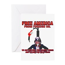 anti foreign oil Fuel Greeting Cards (Pk of 10)