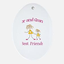 Taylor & Grandma - Best Frien Oval Ornament