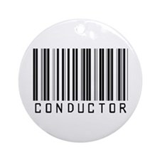 Conductor Barcode Ornament (Round)