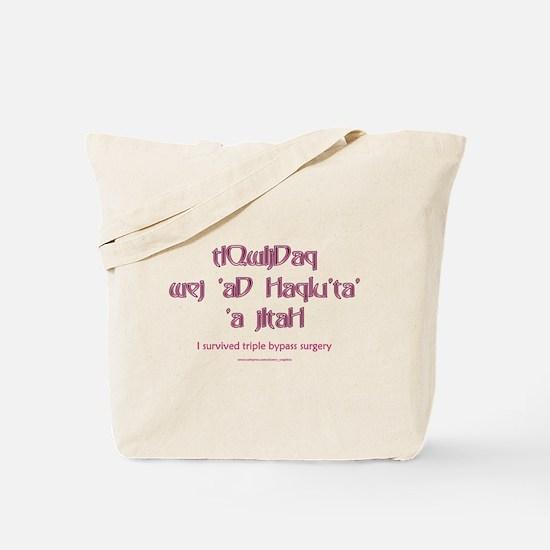 Klingon 'Triple Bypass' Tote Bag