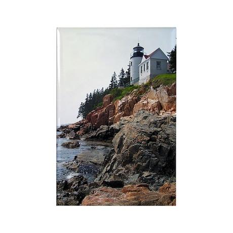 Bass Harbor Light Rectangle Magnet (10 pack)