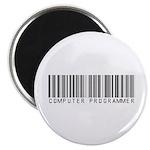 Computer Programmer Barcode Magnet