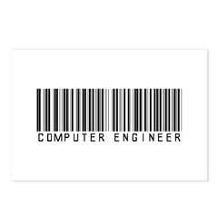 Computer Engineer Barcode Postcards (Package of 8)