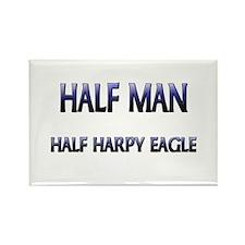 Half Man Half Harpy Eagle Rectangle Magnet