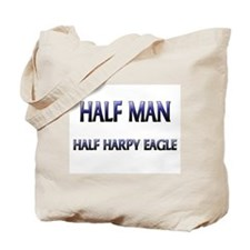 Half Man Half Harpy Eagle Tote Bag