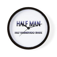 Half Man Half Hammerhead Shark Wall Clock