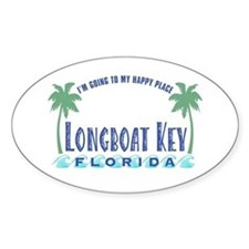 Longboat Key Happy Place - Oval Decal