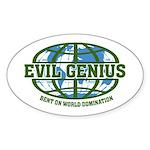 Evil Genius Oval Sticker