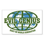 Evil Genius Rectangle Sticker