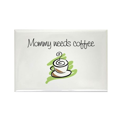 new mom t-shirts mommy coffee Rectangle Magnet