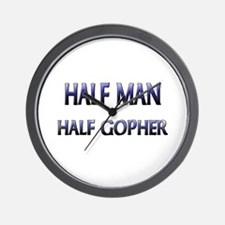 Half Man Half Gopher Wall Clock