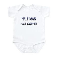 Half Man Half Gopher Infant Bodysuit