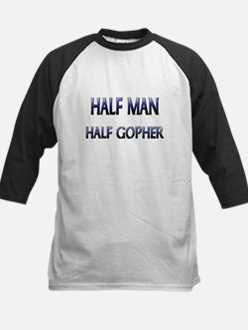 Half Man Half Gopher Kids Baseball Jersey